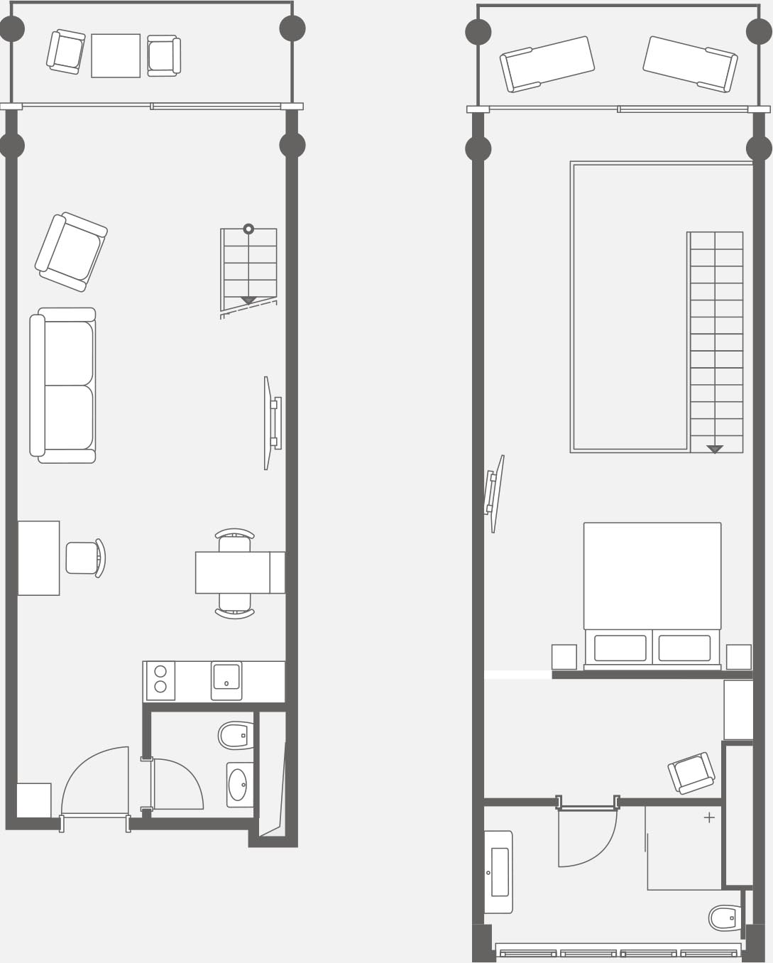 Apartment on Rügen for two people - floor plan