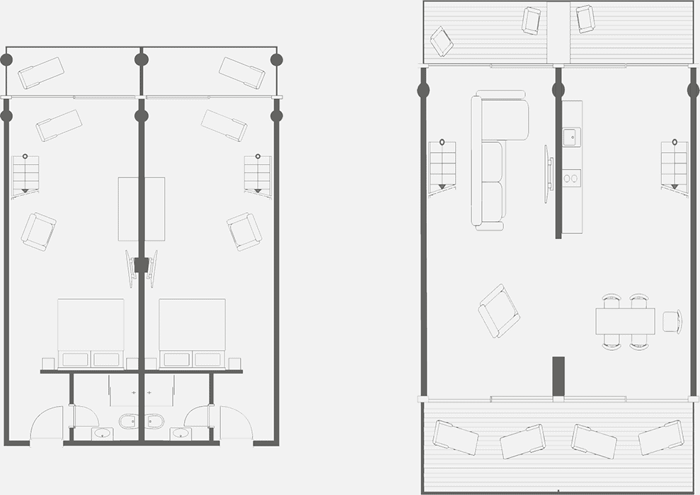 Apartment on Rügen for four people - floor plan